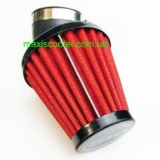 """RAD - спортивний повітряний фільтр, """"нульового"""" опору. Діаметр = 42 мм, червоний"""