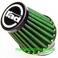 """RAD - спортивний повітряний фільтр, """"нульового"""" опору. Діаметр = 48 мм, зелений"""